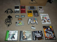 Old gameboy systems / games for PS1 / Gamecube / Wii / 3DS