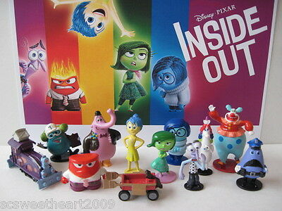 Disney Pixar Inside Out Movie 12 Pc Figure Play Set W 5 Emotions Jangles Train