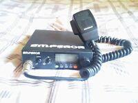 President Emperor Ninja CB Radio With Original Emperor Condenser Mic + Sharman Multicom Power Supply