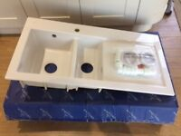 New Villeroy & Boch Subway 60 1 ½ bowl white ceramic kitchen sink.