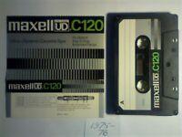 8x DIFFERENT MAXELL CASSETTE TAPES 1975-1984. UD 60/90/120, UDXLI 90, UDXLII 60/90, XLI 90, LN 90.