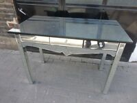 MIRRORED CONSOLE TABLE DRESSING TABLE - three drawers - VGC.