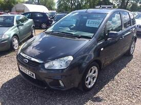 2007 FORD C MAX 1.6 Zetec C MAX DIESEL SERVICE HISTORY 12 MTS WARRANTY AVAIL