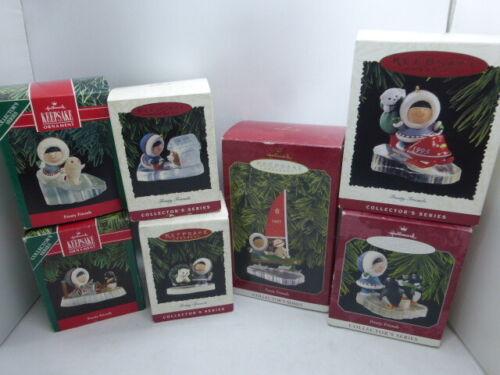 Hallmark Keepsake Ornament Frosty Friends 1990s Series In Box - Lot Of 7