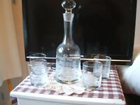 Decanter and Four Glasses - Unused