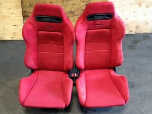 JDM RED RECARO DC2 SEATS HONDA CIVIC ACURA INTEGRA