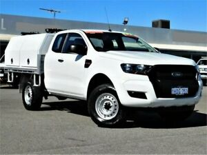 2015 Ford Ranger PX MkII XL Hi-Rider White 6 Speed Sports Automatic Cab Chassis Bibra Lake Cockburn Area Preview