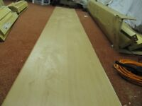 Kitchen Worktop Wood laminated with Fitted metal end Piece 47x283.5x3.8cm