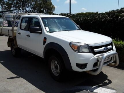 2010 Ford Ranger PK XL Crew Cab Hi-Rider White 5 Speed Automatic Cab Chassis