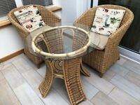Wicker Conservatory Table & Chairs