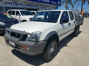 2006 Holden Rodeo RA MY06 Upgrade LX (4x4) White 5 Speed Manual Crew Cab Chassis Wangara Wanneroo Area Preview