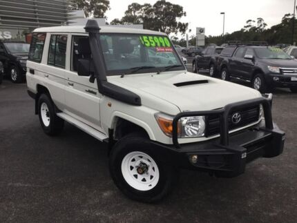 2013 Toyota Landcruiser White Manual Wagon Traralgon Latrobe Valley Preview