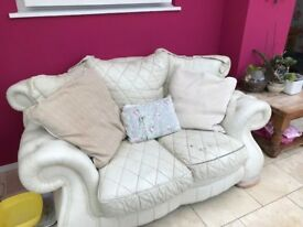two seater settee leather matching chair