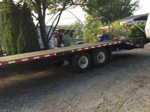 24' trail tech flat deck trailer