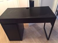 Ikea black computer desk
