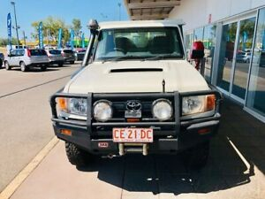 2014 Toyota Landcruiser VDJ79R MY13 Workmate White 5 Speed Manual Cab Chassis Berrimah Darwin City Preview