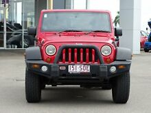 2011 Jeep Wrangler JK MY2011 Sport Red 6 Speed Manual Softtop Garbutt Townsville City Preview