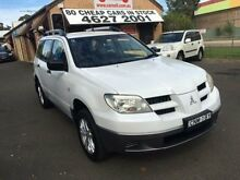 2005 Mitsubishi Outlander  White 4 Speed Automatic Wagon Campbelltown Campbelltown Area Preview