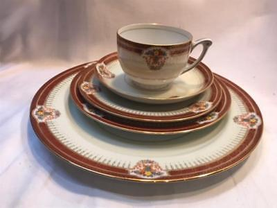 Narumi Empress Hand Painted Occupied Japan  5PC Place Setting Vintage