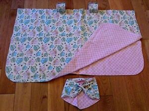 Baby Girl Car Seat Canopy and Matching Baby Bandana --too cute!