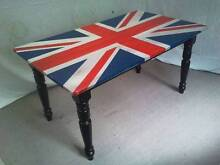 DINING TABLE WITH UNION JACK TOP Loganholme Logan Area Preview