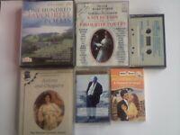 ABC BETJEMAN POETRY, ROBERT BURNS ANTONY & CLEOPATRA, MILLS & BOON ROMANCE AUDIO BOOK CASSETTE TAPES