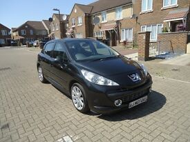 2008/08 Peugeot 207 1.6 HDi GT 5dr Hatchback, Manual, Black