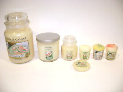 7 pc Yankee Candle CHRISTMAS COOKIE 22 oz, 7 oz, 3.7 oz Votives & Tart Free Ship