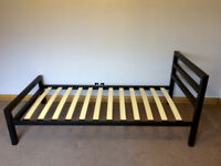 SINGLE metal BED - BLACK CITY BLOCK - BRAND NEW CONDITION - 6 MONTHS OLD