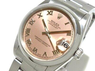 Auth ROLEX Datejust 78240 Pink Silver Y149216 Unisex Wrist Watch