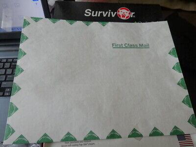 Quality Park Tyvek Envelopes First Class 10x13 White Self Seal Strip 100 Bx