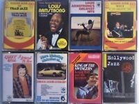 A-Z 3 L ARMSTRONG, 3 KENNY BALL, VARIOUS TRAD JAZZ GREATS, HOLLYWOOD JAZZ PRERECORDED CASSETTE TAPES