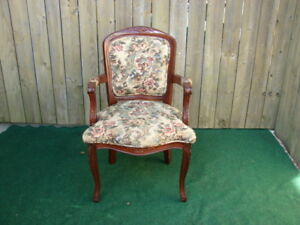 Floral Antique Look chair