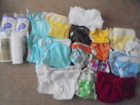Reusable nappies, wraps and liners