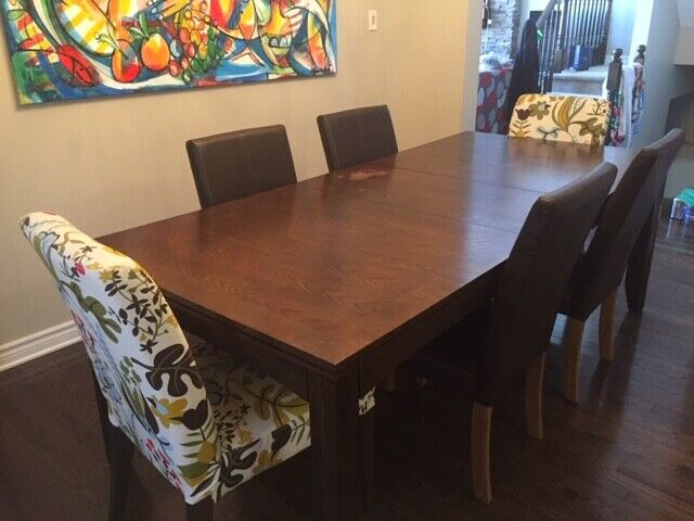 Awesome dining room table including 6 chairs | Dining ...