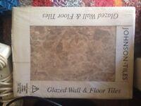 Glazed Floor Tiles, pack of 8 + 1 spare