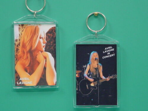 AVRIL LAVIGNE - with 2 Photos - Designer Collectible GIFT Keychain