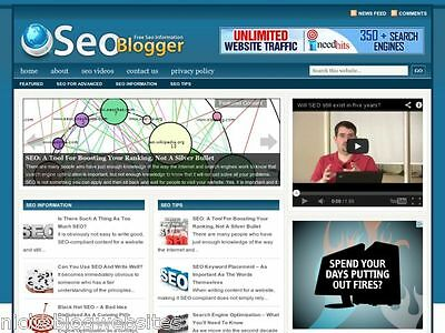 Hot Seo Search Engine Optimization Marketing Wp Blog Website For Sale