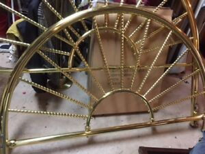 Queen Sized Brass Bed with Rails