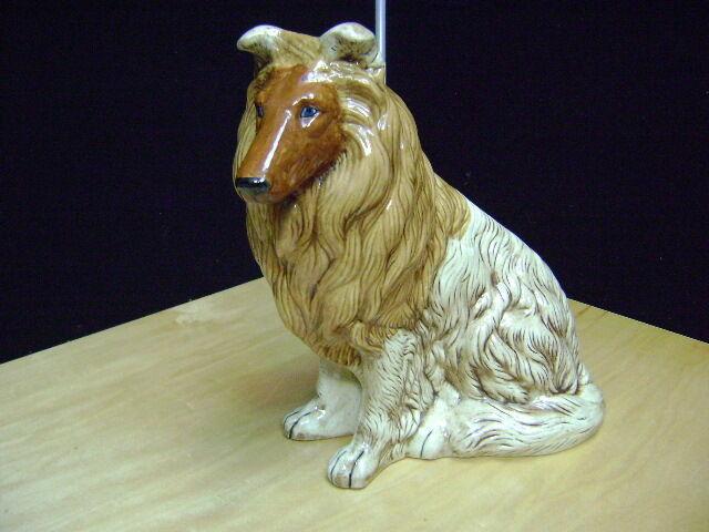 """Collie Ceramic Dog figure Collie Beautiful 11""""   1977"""