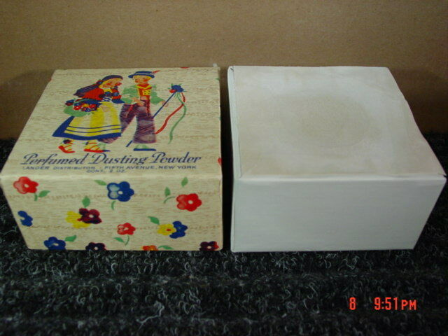 Vintage Perfumed Dusting Powder Lander Sealed Old