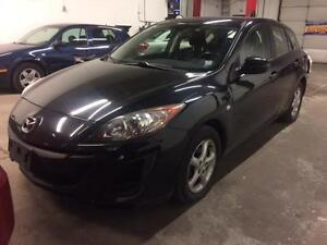 2010 MAZDA 3 HATCHBACK, BLACK ON BLACK, ALLOYS, BRAND NEW TIRES!