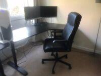 Corner Desk Right + Swivel Chair