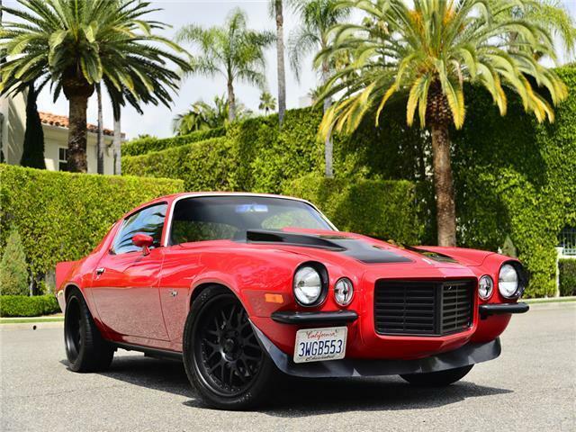 1972 Chevrolet Camaro Z28 Split nose  975 Miles Red Coupe LSX 454 V8