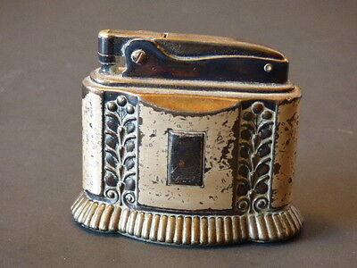 "Vintage Art Deco Silver Ronson ""Diana""  Tabletop Refillable Lighter"