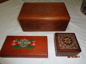 Carved Rosewood / Wood Boxes