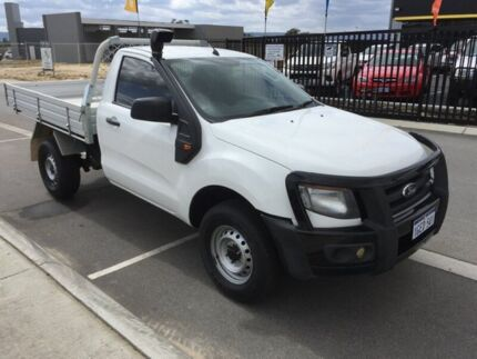 2012 Ford Ranger PX XL 3.2 (4x4) Cool White 6 Speed Automatic Cab Chassis