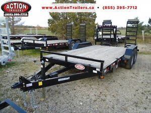 16FT 5 TON EQUIPMENT HAULER - WELL BUILT, SALE PRICING!!