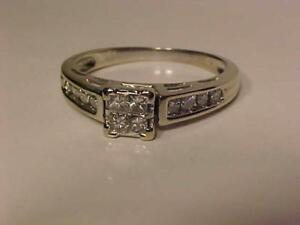 #1248-14K W/Gold PRINCESS CUT DIAMOND *ENGAGEMENT RING*-APPRAISED AT $2,100.00 SELL $595.00 FREE SHIPPING & LAYAWAY-