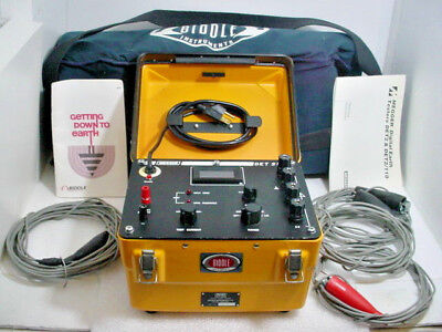 Biddle Megger 250200 Det-2110 Digital Earth Ground Tester W Accessories Cased